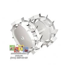 Металлические колеса с грунтозацепами (350х100 мм)