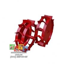 Металлические колеса с грунтозацепами (350х80 мм)