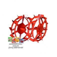 Металлические колеса с грунтозацепами (500х100 мм)