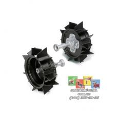 Металлические колеса с грунтозацепами (380х120 мм) в комплекте с полуосями ARO 600